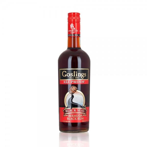 """Goslings Black Seal """"151"""" Proof Bermuda Rum (70cl)"""