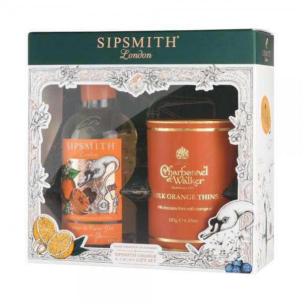 Sipsmith and Charbonnel et Walker Gift Set 20Cl