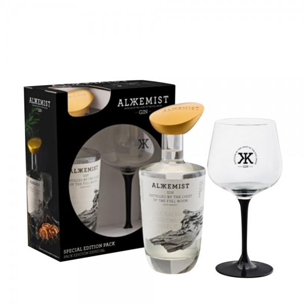 Alkkemist Gin Glass Gift Pack 70cl