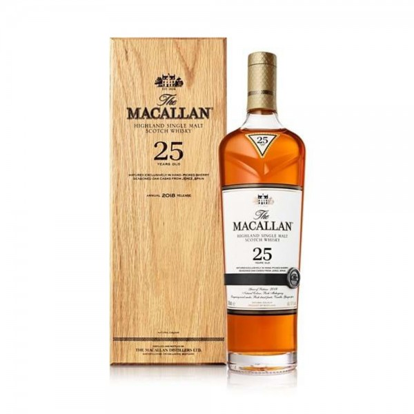 Macallan Sherry Oak Single Malt Whisky 25 Year Old 70cl
