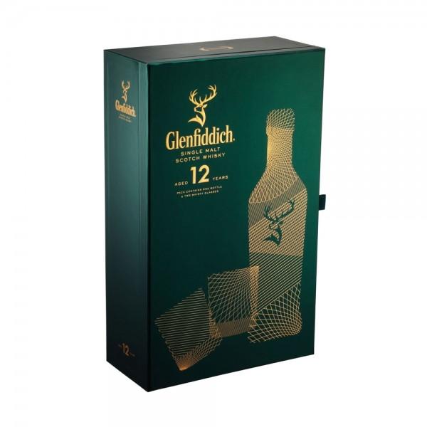Glenfiddich 12YO 2 Glass Gift Pack 70cl