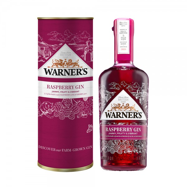 Warner's Raspberry Gin in Gift Tube 70cl