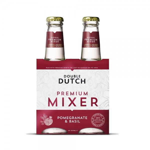 Double Dutch Pomegranate & Basil Mixer 4X20Cl
