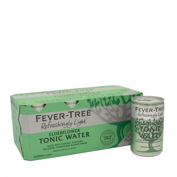 Fever-Tree Refreshingly Light Elderflower Tonic Cans 8x15Cl
