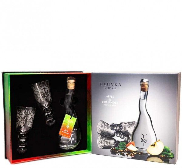 U'luvka Apple & Coriander Vodka Gift Set 10cl