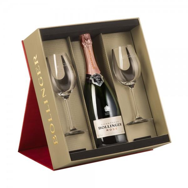 Bollinger Rosé Gift Set with Glasses 75cl