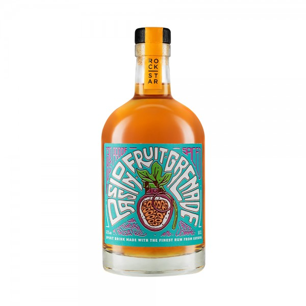 Rockstar Spirits Passionfruit Grenade Overproof Rum (65% ABV) 50Cl
