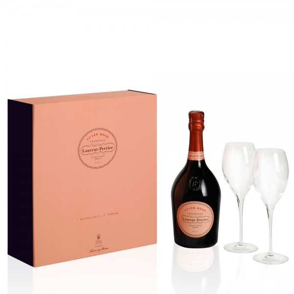 Laurent Perrier La Cuvee Rose Brut 2 Glass Gift Pack 75cl
