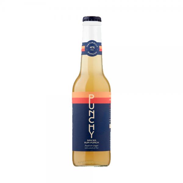 PUNCHY Peach Ginger & Chai Spiced Rum Punch 4% Vol 27.5Cl