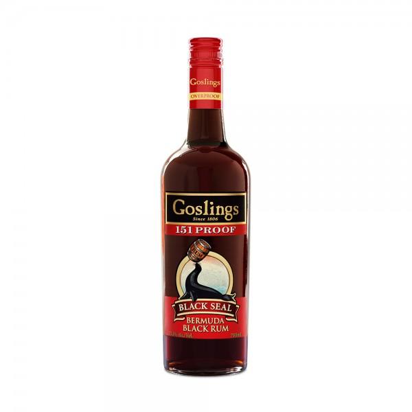 """Goslings Black Seal """"151"""" Proof Bermuda Rum 70cl"""