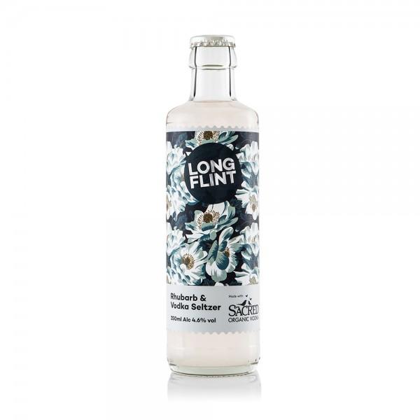 Long Flint Rhubarb & Vodka Seltzer 25cl