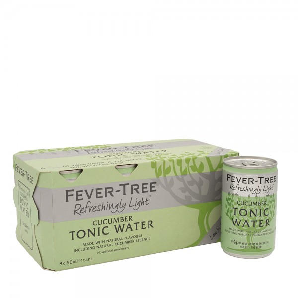 Fever-Tree Refreshingly Light Cucumber Tonic Cans 8 x 15Cl