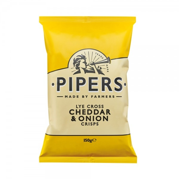 Pipers Cheddar & Onion Crisps