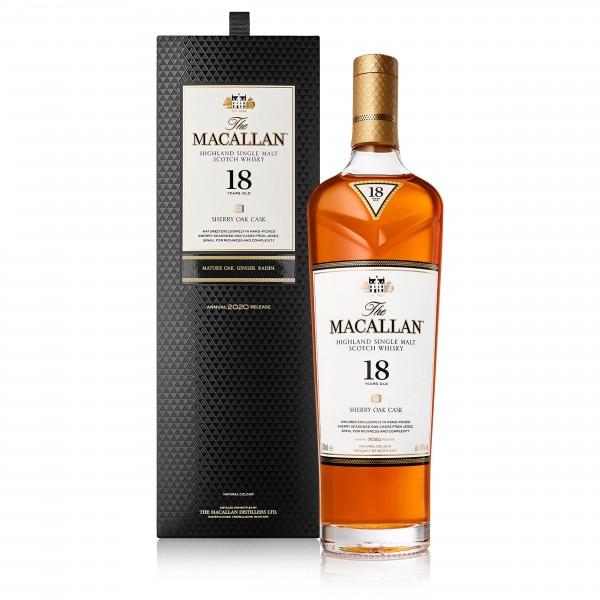 Macallan Sherry Oak Single Malt Whisky 18 Year Old 70Cl
