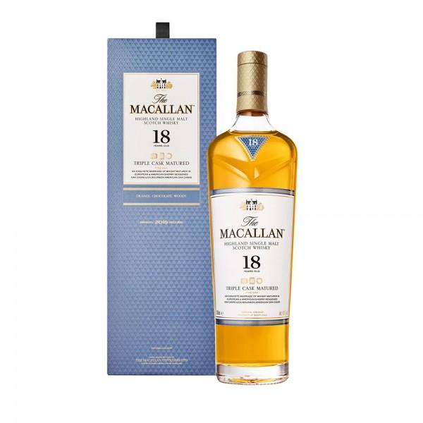 Macallan Triple Cask Single Malt Whisky 18 Year Old 70Cl