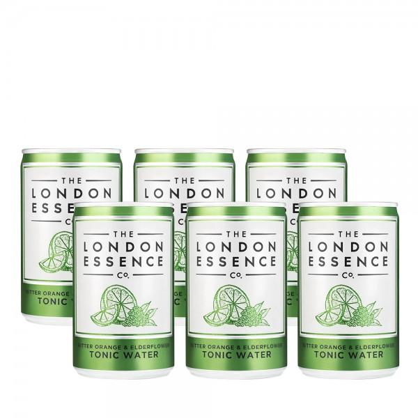 London Essence Bitter Orange & Elderflower Tonic Can 6x15cl