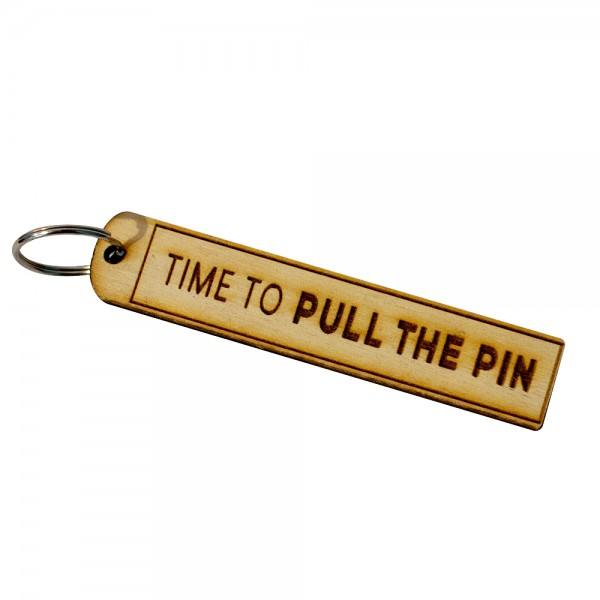 Pull The Pin Keyring
