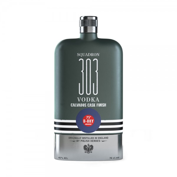 Squadron 303 D-Day Flask Vodka 70cl