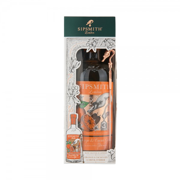 Sipsmith Orange & Cacao Gin Gift Set with Stirrer 50Cl