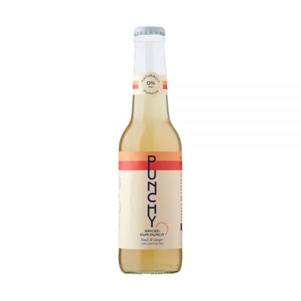 PUNCHY Peach Ginger & Chai Spiced Rum Punch 0% Vol 27.5Cl