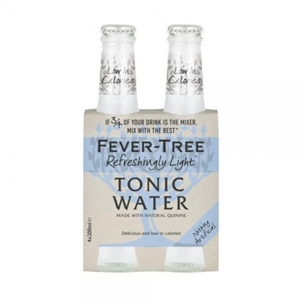 FEVER TREE LIGHT TONIC TONIC WATER 4X20CL